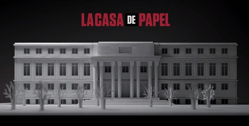 La casa de papel maqueta fachada serie antena 3 tv